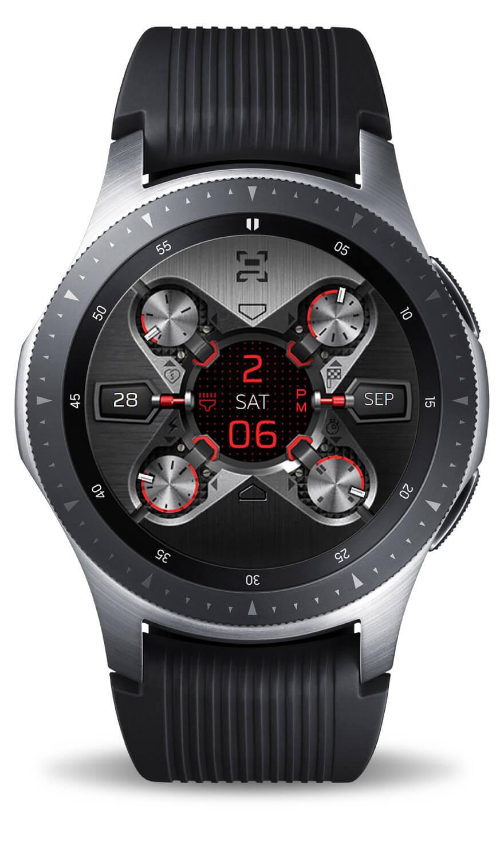 X9 54Xe, red mode. Samsung Galaxy Watch