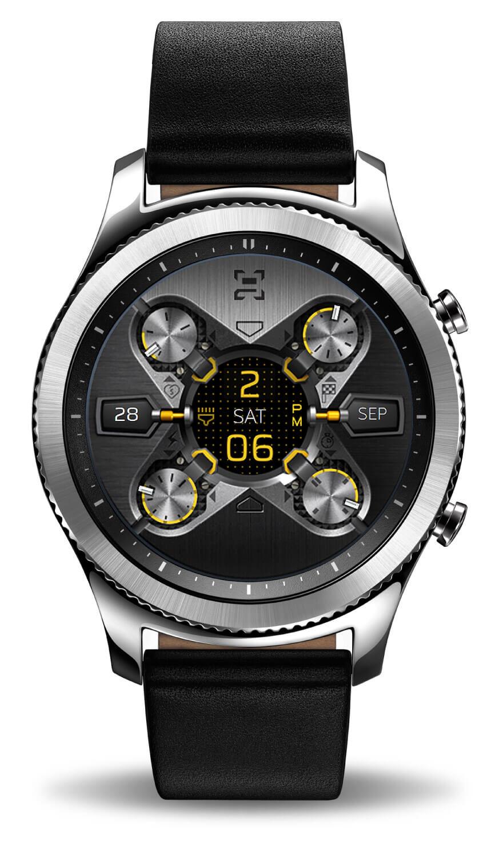 X9 54Xe, full mode. Samsung Gear S3 Classic watch face.