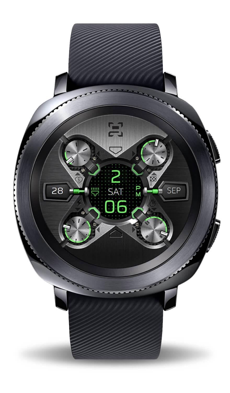 X9 54Xe, Samsung watch face.