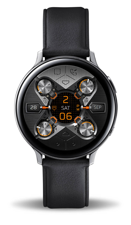 X9 54Xe, full mode. Samsung Active 2 watch face.
