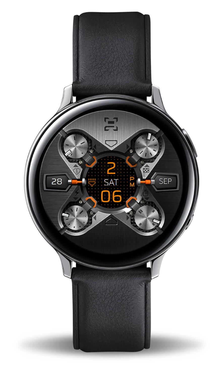 X9 54Xe, color mode. Samsung Active 2 watch face.