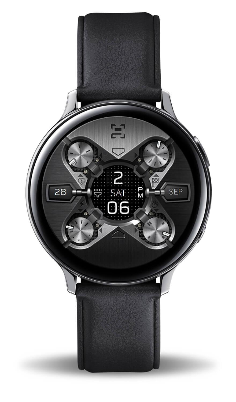 X9 54Xe, a modern digital watch face for Samsung Active 2.