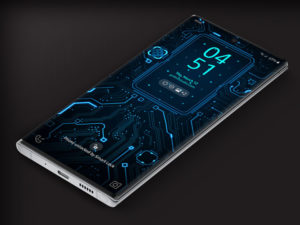 X9 Circuit Blue 1 – Video Wallpaper