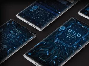 Samsung Theme: X9 Circuit – Blue