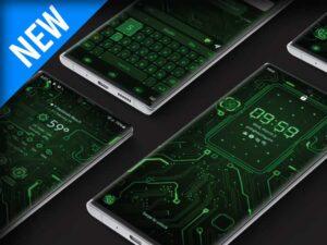 Samsung Theme: X9 Circuit – Green