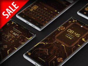 Samsung Theme: X9 Circuit – Yellow