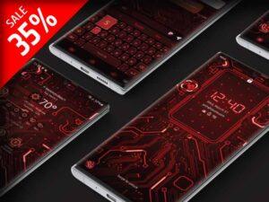 Samsung Theme: X9 Circuit – Red