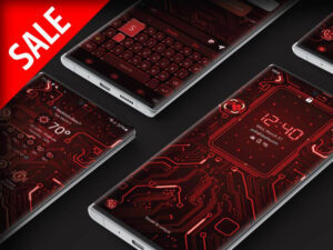 Samsung Theme: X9 Circuit – Red