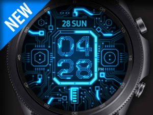 X9 Blue Circuit – Galaxy Watch Face