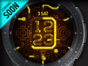 X9 Yellow Circuit – Galaxy Watch Face