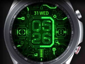 X9 Green Circuit – Galaxy Watch Face