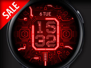 X9 Red Circuit – Galaxy Watch Face